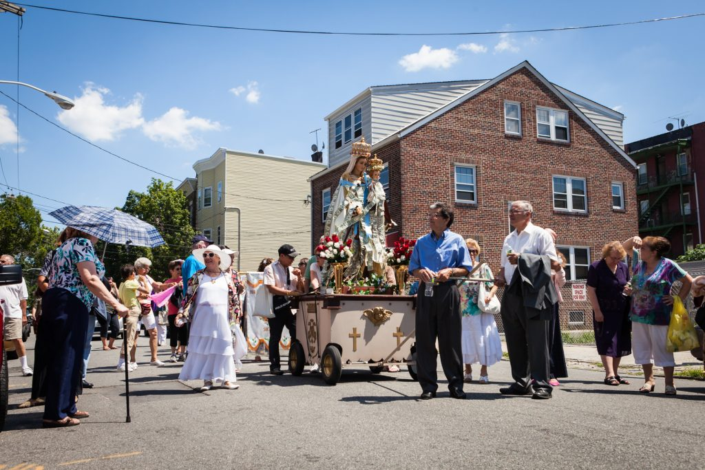 Procession of the Blessed Virgin to Our Lady of Mt. Carmel Newark by NYC photojournalist, Kelly Williams