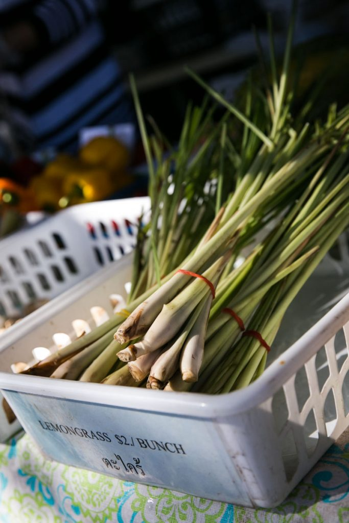 Lemongrass for sale at the Wat Mongkolratanaram, photographed by NYC photojournalist, Kelly Williams