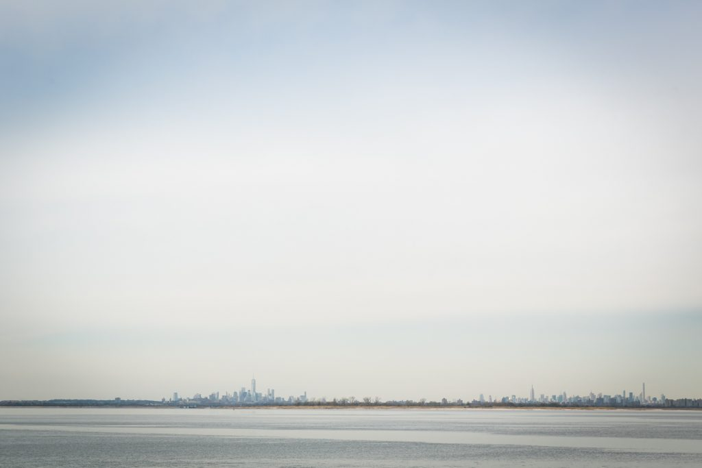 NYC skyline as seen from the Rockaways, by photographer Kelly Williams