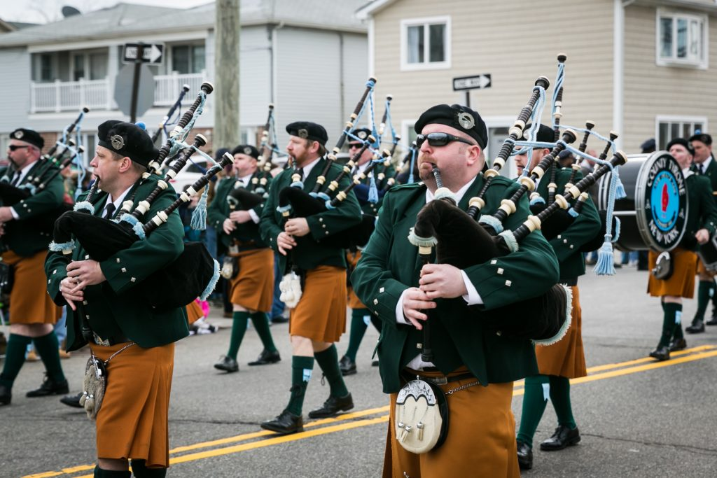 Bagpipers at the Queens County St. Patrick's Day Parade, by NYC photojournalist, Kelly Williams