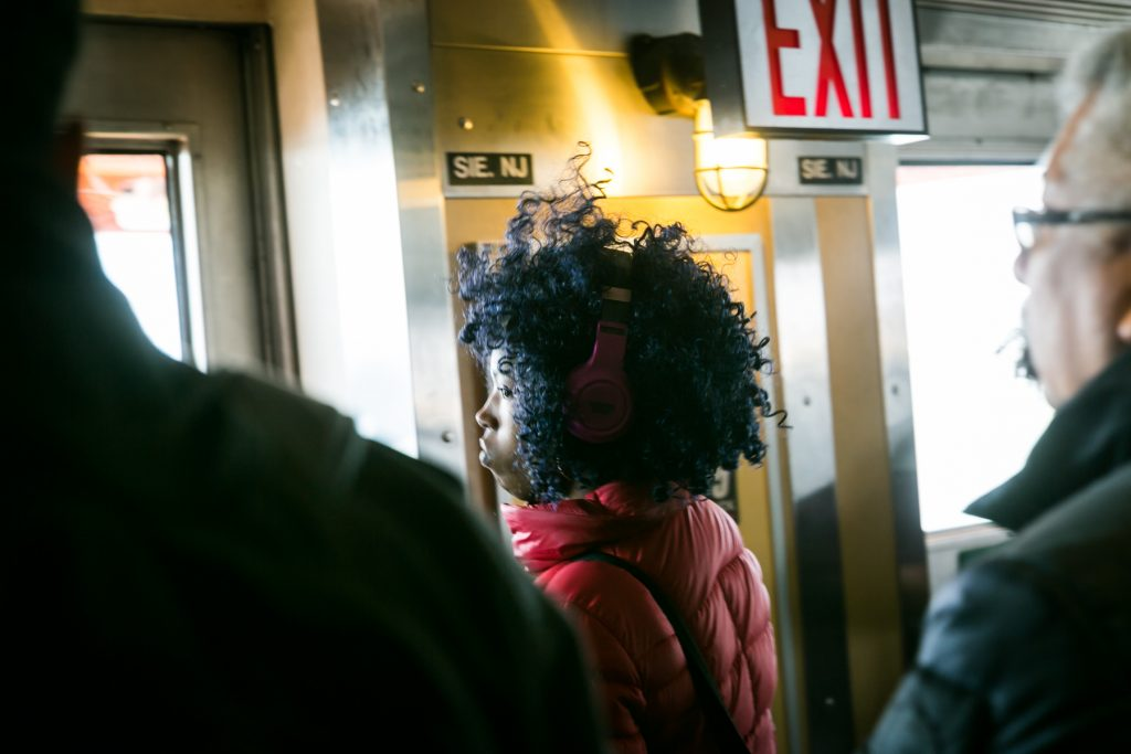 On the Staten Island Ferry, by NYC photographer, Kelly Williams