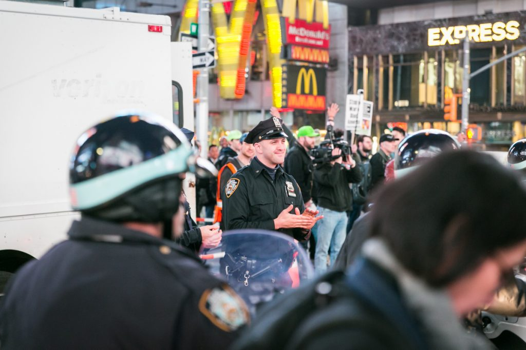 Anti-Trump rally Times Square by NYC photojournalist, Kelly Williams