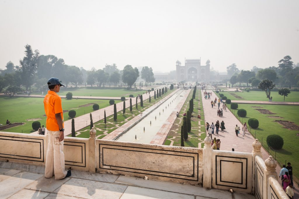 Boy at the Taj Mahal in Agra, India