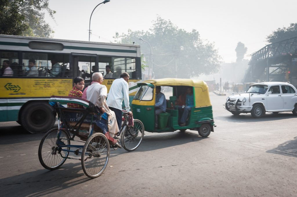 Street scene in Delhi, India