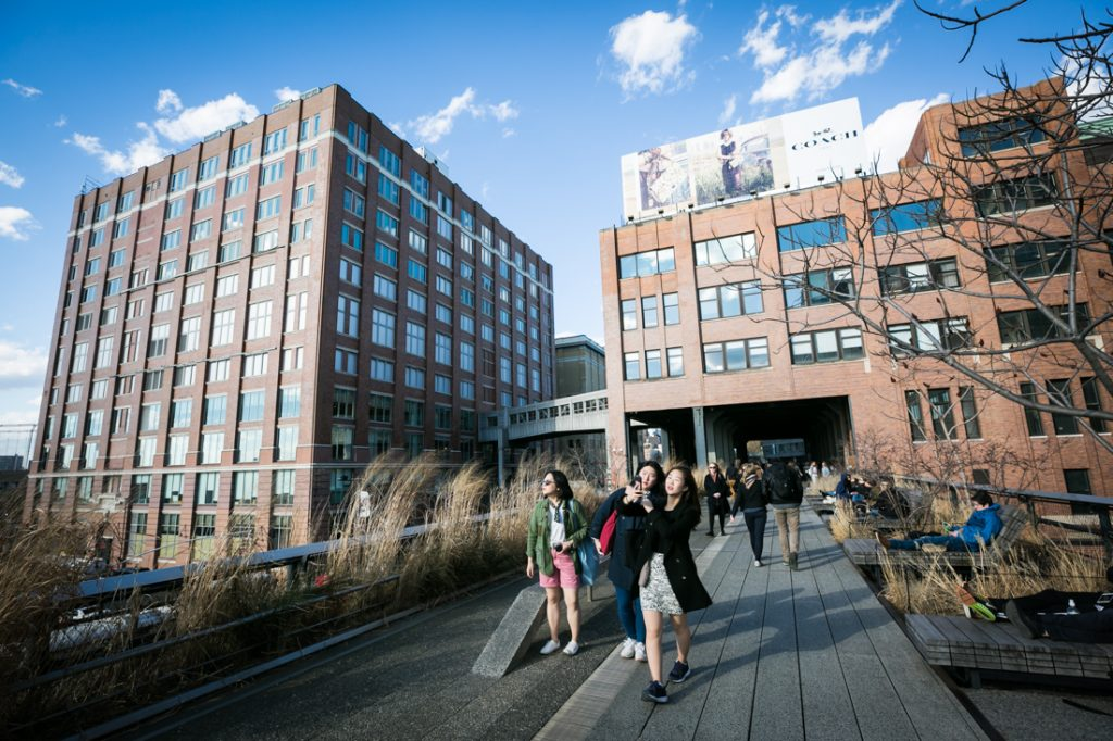 Tourists on the High Line in NYC