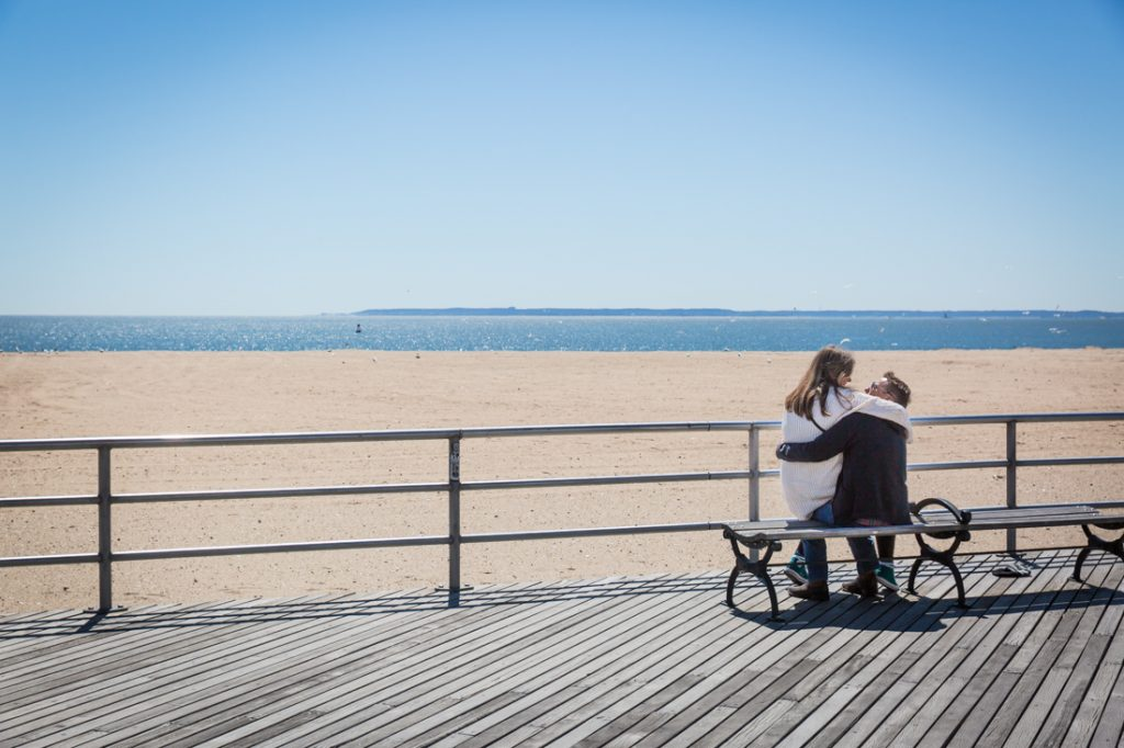 Lovers on the boardwalk on Coney Island opening day 2017