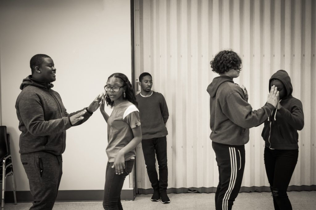Rehearsals for a cotillion hosted by Sisters with Purpose