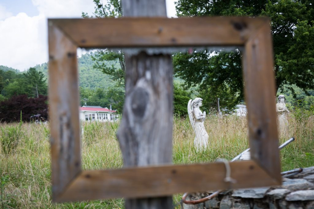 Yard art in Dillsboro, North Carolina