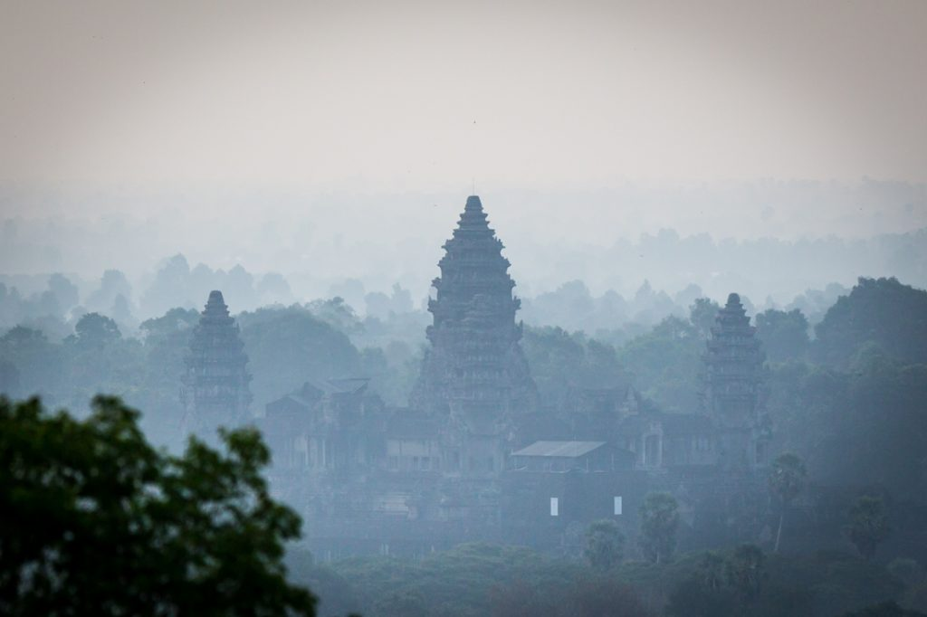 View of Angkor wat from Phnom Bakheng for an Angkor Wat temple guide