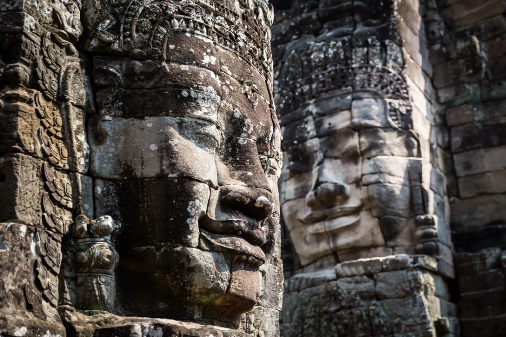 Faces of Bayon Temple for an Angkor Wat temple guide