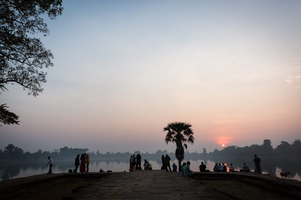 Srah Srang at sunrise for an Angkor Wat temple guide