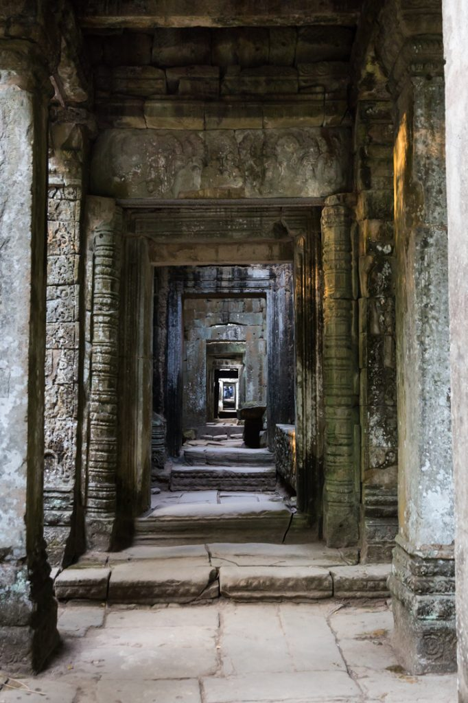 Doorway at Preah Khan Temple for an article on Angkor Wat travel tips