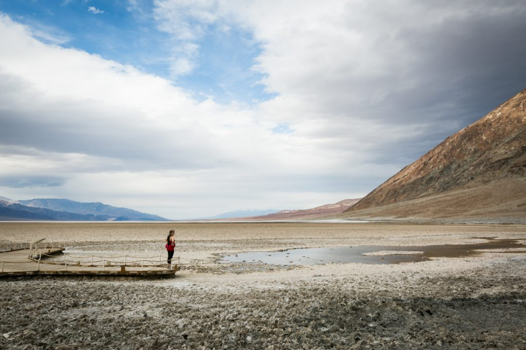 Badwater landscape for an article on Death Valley travel tips