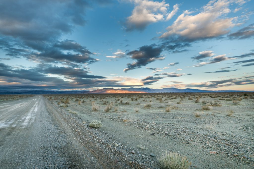 Death Valley Junction landscape for an article on Death Valley travel tips
