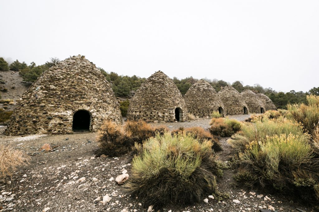 Charcoal kilns landscape for an article on Death Valley travel tips