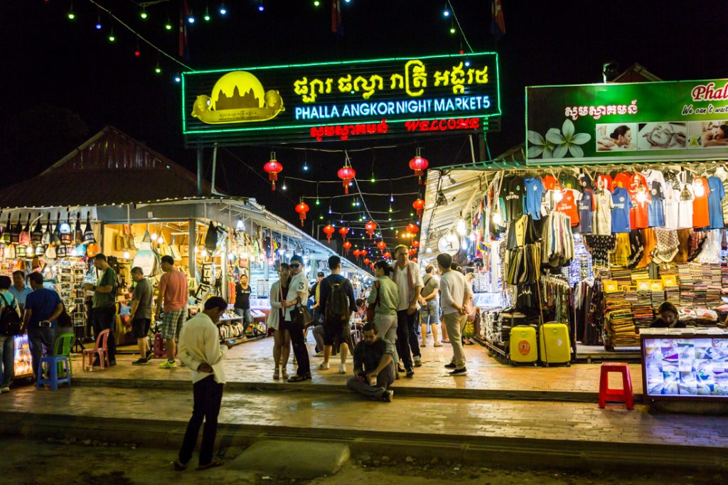 Night markets for an article on Siem Reap travel tips