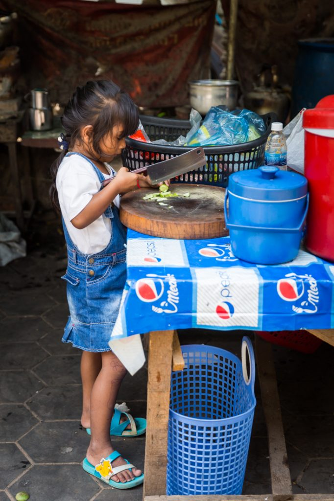 Little child for an article on Siem Reap travel tips