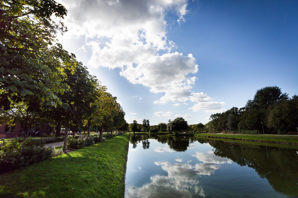 Public park in Papenburg, Germany