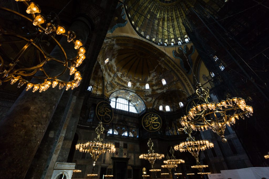 Hagia Sophia interior for an article on Istanbul street photos