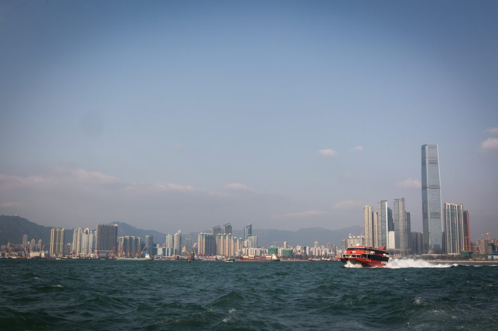 Star Ferry and waterfront view of Hong Kong for a Hong Kong travel guide article