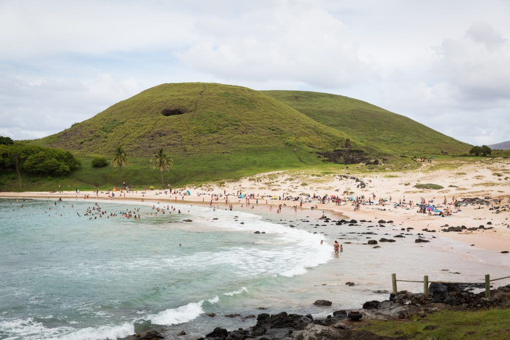 Anakena Beach for an Easter Island travel guide
