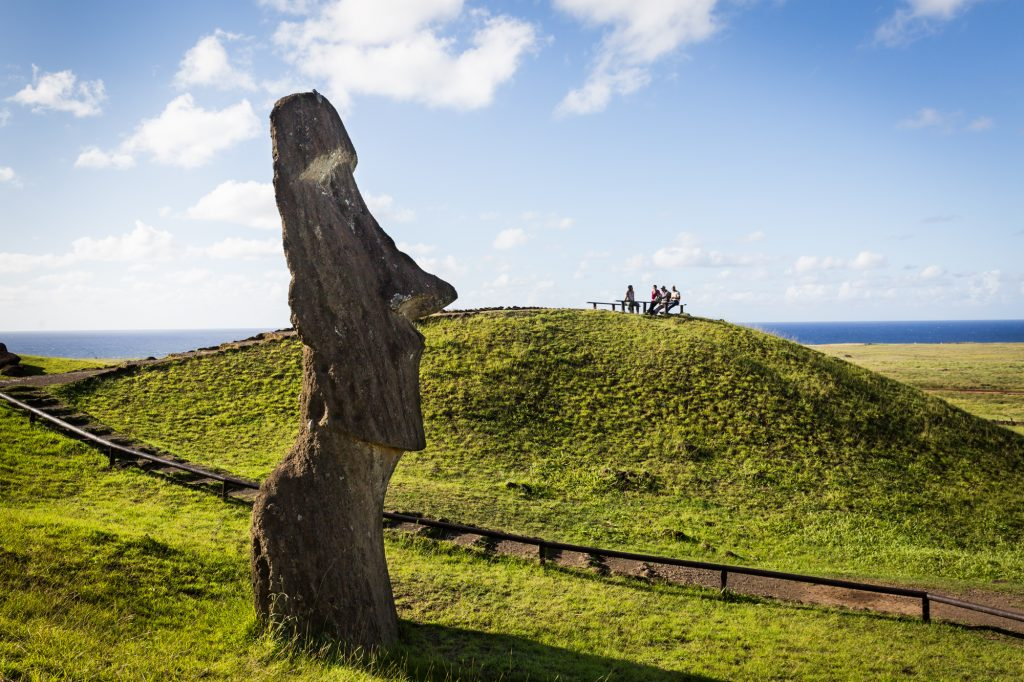 South America trip photo of moai sculpture on Easter Island