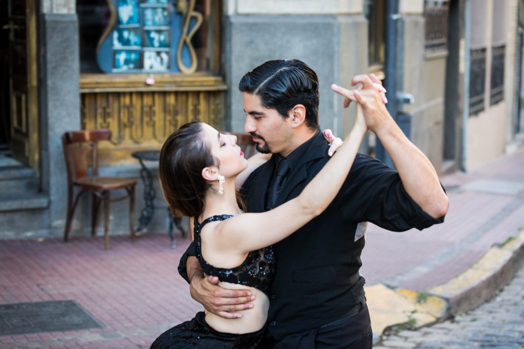 South America trip photo of tango dancers