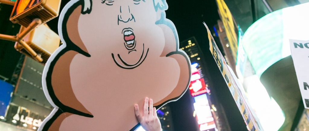 Anti-Trump rally in Times Square by NYC photojournalist, Kelly Williams